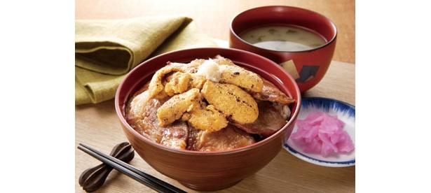 秘伝の豚丼×ウニのコラボ「炙りうに豚丼」(1470円)