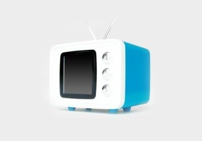 レトロなテレビ型のSNAP TV JR.(ブルー)
