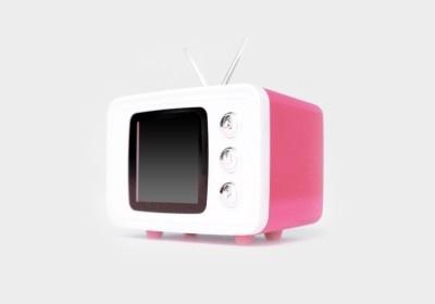 レトロなテレビ型のSNAP TV JR.(ピンク)
