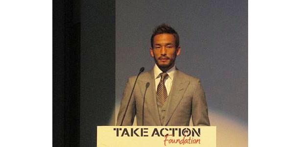 壮大なプロジェクトを発表する中田氏