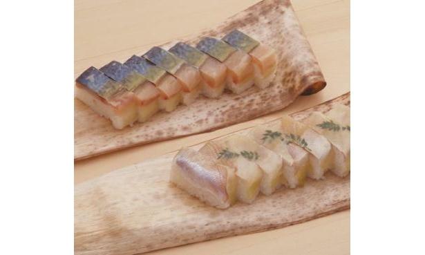 名店の味・さばバッテラと小鯛押し寿司