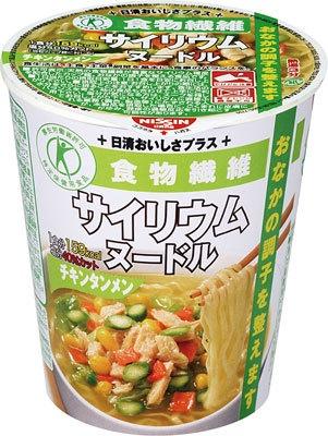 トクホ(特定保健用食品)のなら「サイリウムヌードル チキンタンメン」(200円)がなんと159kcal!!