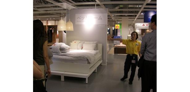 ストア見学では、IKEAのスタッフさんが丁寧に店内を案内してくれた。