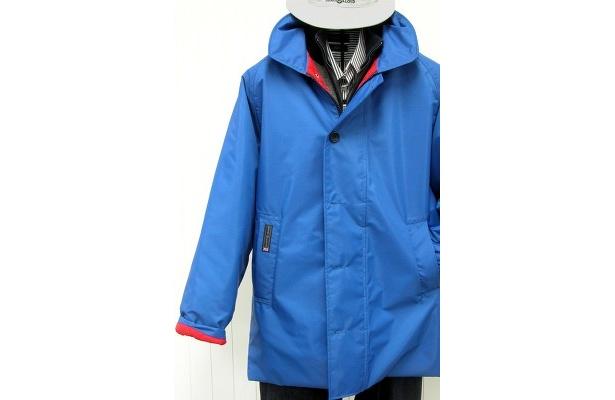 コンソートジャケット¥56,000は1965年に製品化され、塩でサビないパーツをつかい、かつ確実に風を防ぐジャケットとして当時のマリンウエアに革命を起こした銘品