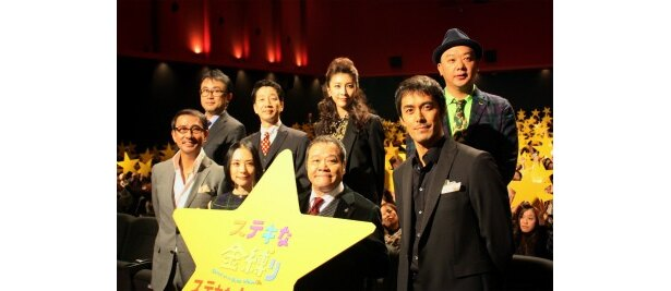 『ステキな金縛り』の初日舞台挨拶で深津絵里や西田敏行ら豪華キャストが登壇