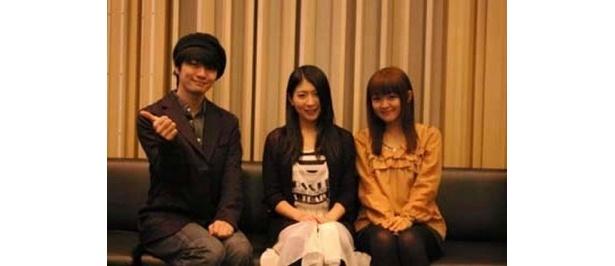 ブルーレイ初回限定版特典キャラクターコメンタリーを務めた福山潤、茅原実里、斎藤千和