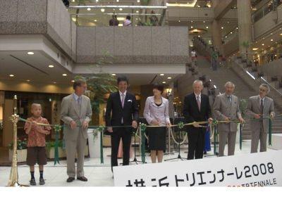 テープカットは時央くんに横浜市副市長の野田さん、ノルウェー大使など!