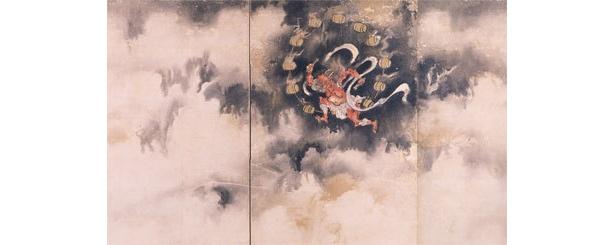 伝狩野探幽 風神雷神図屏風(部分) 板橋区立美術館所蔵
