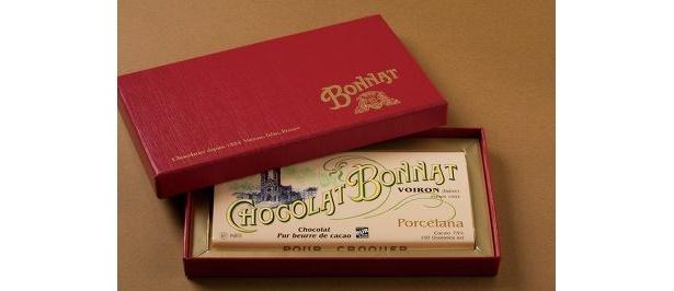 """生産量の少ない""""幻のチョコ""""とも呼ばれるボナのグランクリュ ポルセラーナ(1枚100g3570円)"""