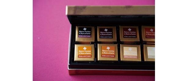 名鉄限定のロイズのロイズアロマチョコレートコレクション(8種類各4枚1040円)