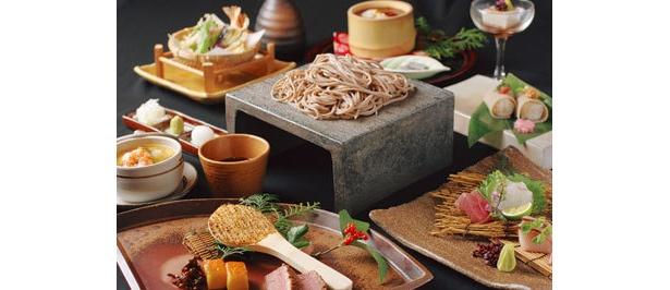 「燈花」ではオープン記念の蕎麦懐石¥2940(2月末まで)が登場