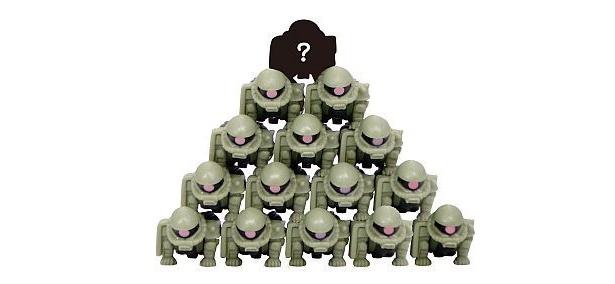 ザクが集団ピラミッド!(第1弾「ジオンの脅威」より)