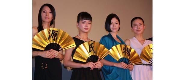 『源氏物語 千年の謎』の初日舞台挨拶で中谷美紀ら豪華キャストが登壇