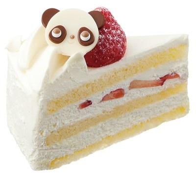 「ハミングカフェ バイ プレミィ・コロミィ」の「パンダショートケーキ」(600円)