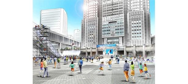 「Tokyo Snow Style in 都庁」イメージ図