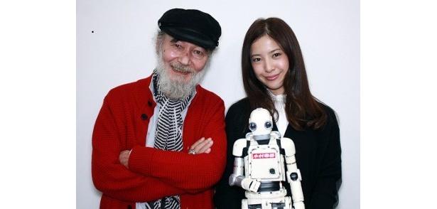 矢口史靖監督作『ロボジー』に出演した五十嵐信次郎&吉高由里子