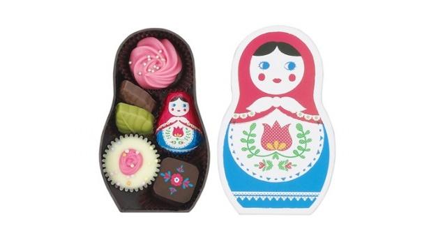 マトリョーシカの3姉妹をあしらった可愛らしいチョコレートシリーズが登場