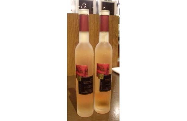 今回飲んだのは「ラインヘッセン ピノ・ノワール ロゼ アイスヴァイン」。オシャレなボトルは、プレゼントに最適!