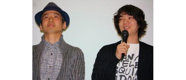 『生きてるものはいないのか』の舞台挨拶に登壇した染谷将太と石井岳龍監督