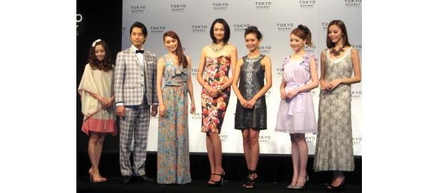 ファッションショー「東京ランウェイ」の会見の出席者たち