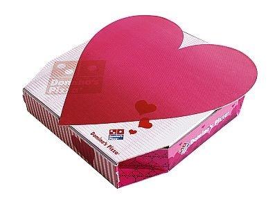 ドミノ・ピザのハート型のバレンタイン限定商品は見た目にも可愛い