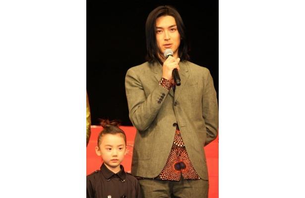『ライアーゲーム 再生』の舞台挨拶に登壇した松田翔太