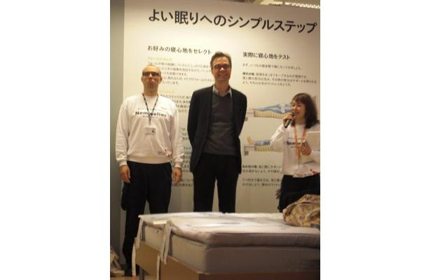 イケアジャパンの社長(中央)がサプライズで登場
