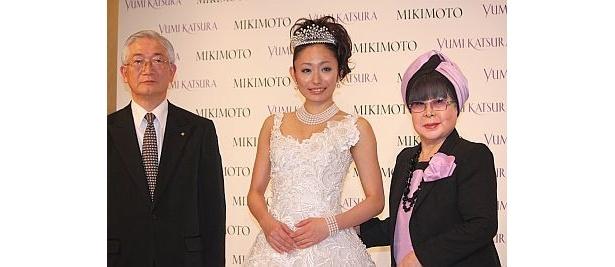 「メイドインジャパンを世界に」と今回はミキモトのアコヤ真珠を使用した