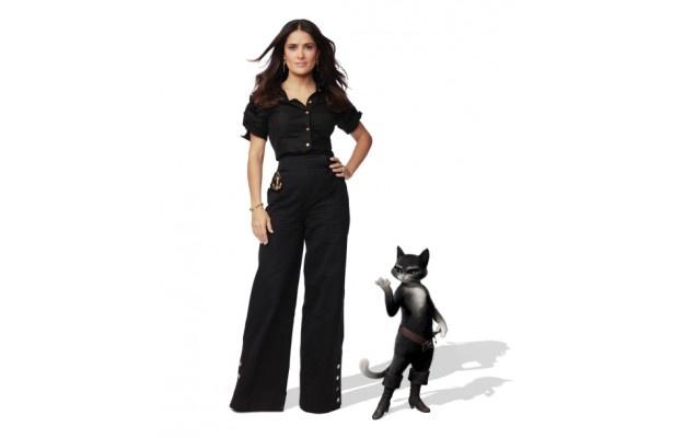 『長ぐつをはいたネコ』でヒロインのメス猫・キティの声を務めたサルマ・ハエック