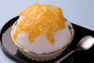 麻布茶房 札幌シャンテ店の「かき氷 柚子」¥650