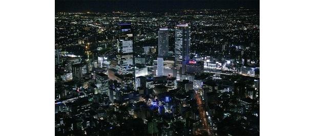 上空から見た名古屋駅。空から見る風景は特別