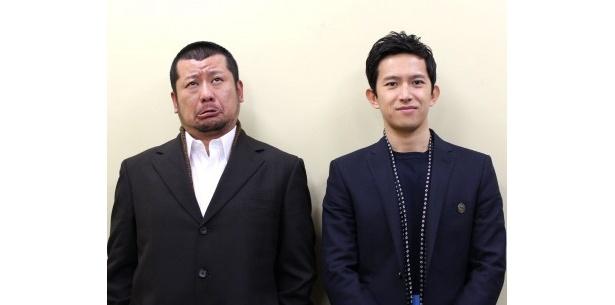 『ゴーストライターホテル』で共演した阿部力とケンドーコバヤシを直撃!