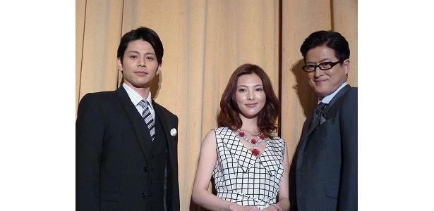 『種まく旅人 みのりの茶』初日舞台挨拶に登壇した陣内孝則、田中麗奈、吉沢悠