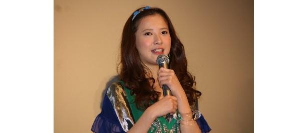 『僕等がいた 前篇』の初日舞台挨拶に登壇した吉高由里子