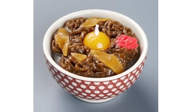 つゆだくがたまらない!「牛丼キャンドル」(714円)