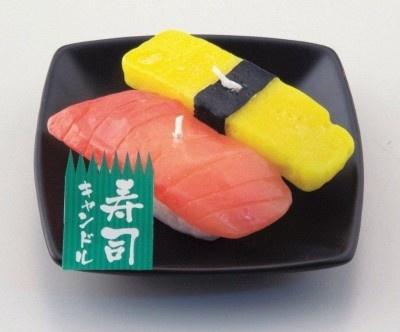 にぎり寿司が大好きだった方へ!「寿司キャンドル/Aセット」(525円)