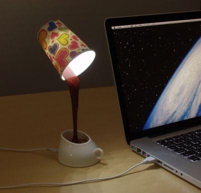パソコンの横で使う基本スタイル、LEDなのでとってもエコ