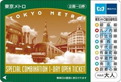 東京メトロ全線が1日乗り放題となる