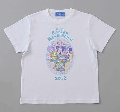 春らしい淡いカラーがキュートなTシャツ。100・110・120cm(各1600円)、130・140・150cm(各1900円)、S・M・L・LL・3L(各2300円)