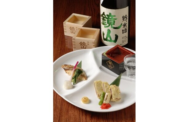 「小江戸蔵里 八州亭」の鏡山日本酒&魚の粕焼きまたは川越三元豚の粕漬け衣揚げセット