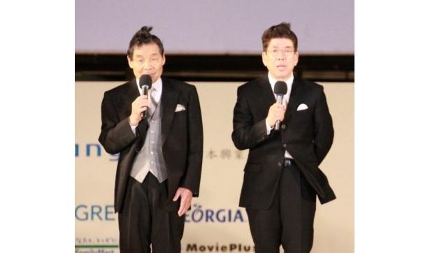 大御所の笑福亭仁鶴と西川きよしもこの企画に賛同