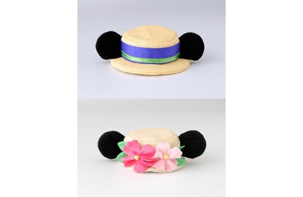 ミッキーとミニーの帽子をかたどったパッチン(800円)