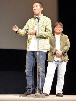 よしもとからは、麒麟・田村裕が出演。舞台あいさつで撮影の裏側を語った。