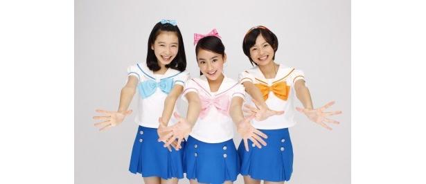 新おはガールを務める岡本夏美、平祐奈、吉川日菜子