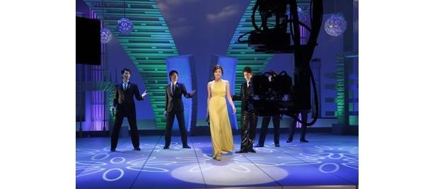 第2回放送分はイエローのドレスで登場