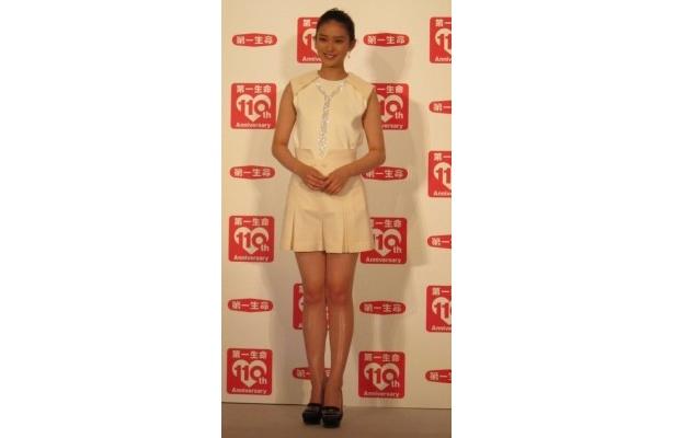 【写真】超ミニのスカートで登場した武井咲さん「東京ディズニーシーは大人っぽくて好き」