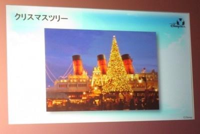 「クリスマスツリーのイルミネーションは綺麗なんですよ!」