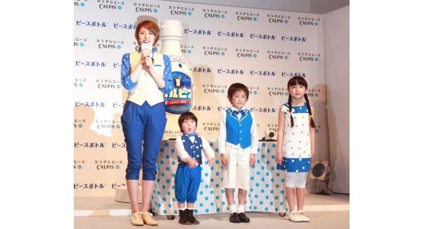新CMに登場する長澤、野沢奏成、才門尚暉、細井瑠花(写真左から)