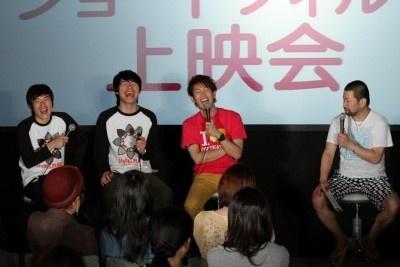 トークショーに登場した(左から)しずる・村上純、麒麟・川島明、トータルテンボス・大村朋宏、監修役の木村裕一