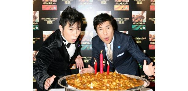 カレー好きの関根さんも絶賛した「ボンカレーネオ」 関根勤さん(右)ゴスペラーズの黒沢薫さん (左)